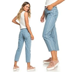 [Roxy] NWT Like A Boy Relaxed Fit Striped Jeans